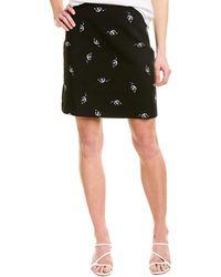 Maje Embroidered Mini Skirt - Black