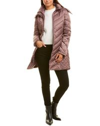 Kenneth Cole Quilted Coat - Pink