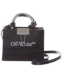Off-White c/o Virgil Abloh ? Baby Box Mini Leather Tote - Black
