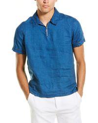 Onia Ben Linen Shirt - Blue