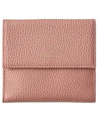 7904ca3db9f8 Gucci - Pink Leather Swing Wallet - Lyst