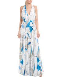 MILLY Georgina Silk Gown - Blue