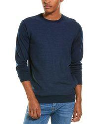 Stone Rose Honeycomb Wool-blend Crewneck Sweater - Blue