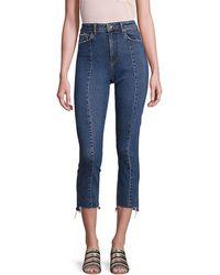 PAIGE Jacqueline High-rise Step Hem Jeans - Blue