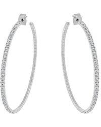 Sabrina Designs 2.5? Crystal Hoop Earrings - White