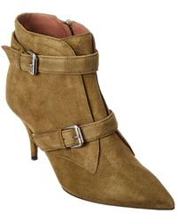 Tabitha Simmons Fitz Suede Bootie - Green