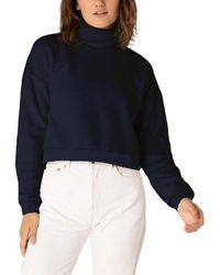 Beyond Yoga All Time Cropped Pullover - Blue