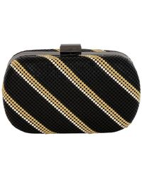 Whiting & Davis - Flat Crystal Dimple Minaudiere - Lyst
