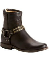 Frye - Phillip Studded Leather Bootie - Lyst