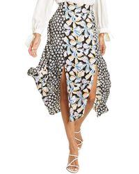 Rebecca Taylor Bow Fleur Silk-blend Midi Skirt - Black