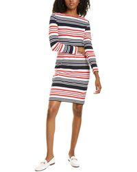 Brooks Brothers Variegated Stripe Shift Dress - White