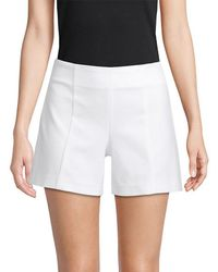 Saks Fifth Avenue Black Tailored Power Stretch Short - White