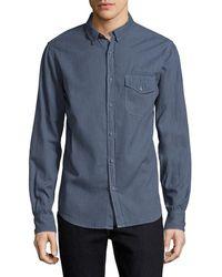 Save Khaki - Melange Flannel Sportshirt - Lyst