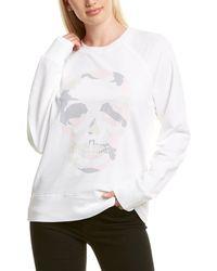 Zadig & Voltaire Upper Skull Camo Decal Sweatshirt - White
