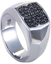 Stephen Webster Men's Silver & Rhodium 0.75 Ct. Tw. Sapphire Ring - Metallic