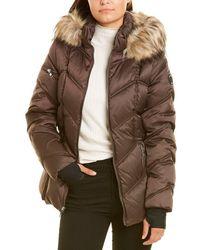 Nautica Short Quilted Coat - Brown