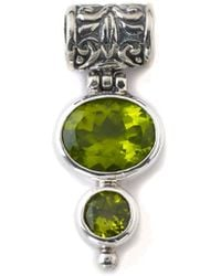Samuel B. Silver 3.00 Ct. Tw. Peridot Pendant - Green