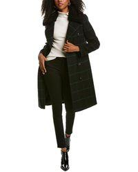 Tahari London Medium Wool-blend Coat - Black