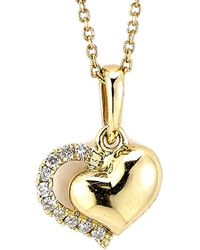 Samuel B Fine Jewelry - Samuel B. Fine Jewelry 14k Diamond Heart Necklace - Lyst