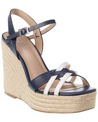 Charles David Dulce Strappy Wedge Espadrilles - Blue