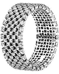 PANDORA Heraldic Check Ring - Metallic