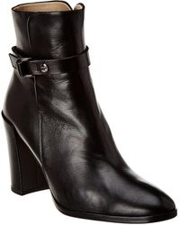 Theory Demeura Leather Bootie - Black