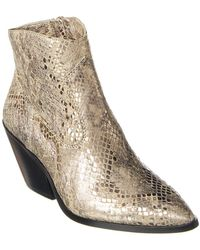 Vince Camuto Jemeila Python-embossed Leather Bootie - Multicolour