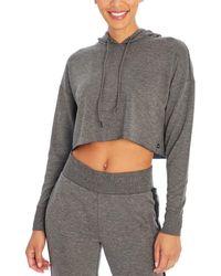 Jessica Simpson Essential Crop Hoodie - Grey