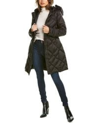 Laundry by Shelli Segal Diamond Quilted Puffer Jacket - Black