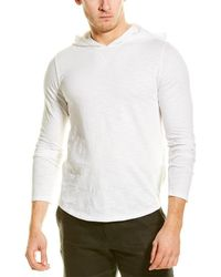 Vince Popover Hoodie - White