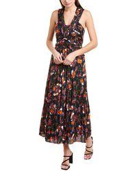 10 Crosby Derek Lam Floral Print Maxi Dress - Black