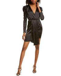 Kendall + Kylie Puff Sleeve Mini Dress - Black