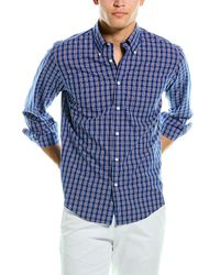 Brooks Brothers 1818 Regent Fit Woven Shirt - Blue