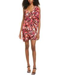 AMUR Cecille One-shoulder Mini Dress - Purple