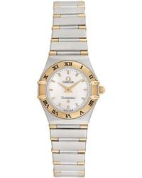 Omega Omega Constellation Diamond Watch, Circa 1990s - Metallic