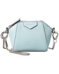 Givenchy Antigona Baby Leather Crossbody - Blue