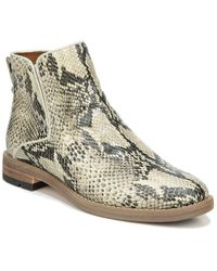 Franco Sarto Marcus Leather Bootie - Natural