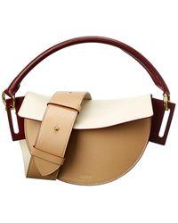 Yuzefi Dip Leather Shoulder Bag - Multicolor