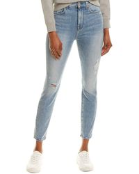 7 For All Mankind - 7 For All Mankind High-waist Vail Destroyed Ankle Skinny Leg Jean - Lyst