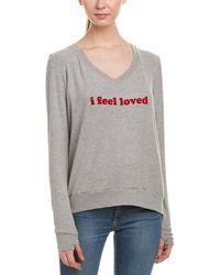 Peace Love World Comfy Sweatshirt - Gray