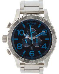Nixon 51-30 Chrono Stainless Steel Watch, 49mm - Blue
