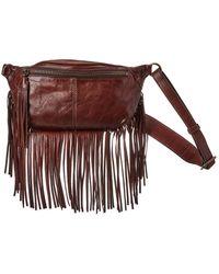 Frye Sacha Small Leather Fringe Bag - Brown