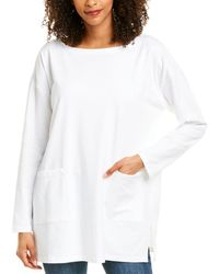 Eileen Fisher Bateau Neck Tunic - White