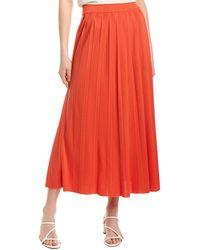 Mara Hoffman Antonia Midi Skirt - Red