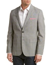 Brooks Brothers Red Fleece Traditional Relaxed Fit Wool Sport Coat - Gray