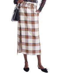 STAUD Simone Wool-blend Skirt - Multicolour