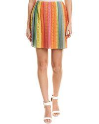 Valentino Lace Silk-blend Mini Skirt - Orange