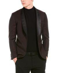 Lubiam Smoking Wool Tuxedo Jacket - Red