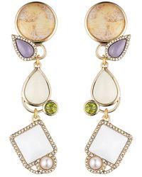 Lulu Frost Marianne Plated Crystal Earrings