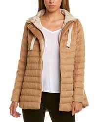 Herno Silk & Cashmere-blend Puffer Down Jacket - Brown